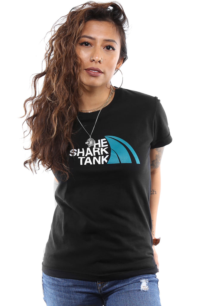 The Shark Tank (Women's Black Tee)