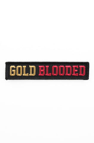 "Gold Blooded (Velcro Patch 1"" x 5"")"