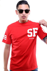 Gold Blooded Legends :: 52 (Men's Red Tee)