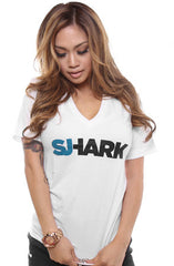 Breezy Excursion X Adapt :: Shark (Women's White V-Neck)