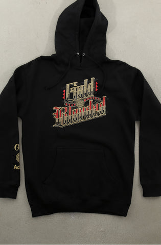 Cukui X Adapt :: Gold Blooded Roots (Men's Black Hoody)