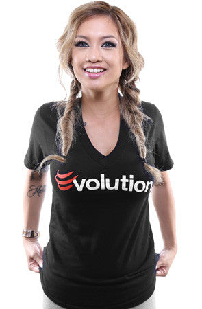 BLOX Evolution X Adapt :: Evolution (Women's Black V-Neck)