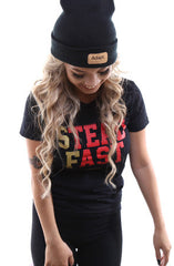 Steadfast (Women's Black/Gold Tee)