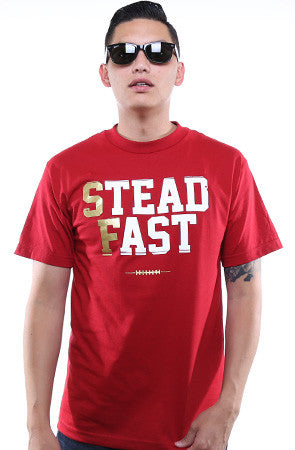 LAST CALL - Steadfast (Men's Cardinal/Gold Tee)