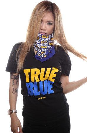 LAST CALL - TRUE x Adapt :: True Blue (Women's Black V-Neck)