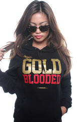 GOLD BLOODED Women's Black/Gold Hoody