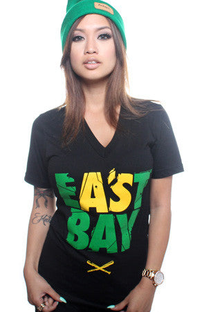 Eastbay (Women's Black V-Neck)