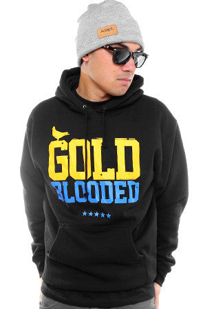GOLD BLOODED Men's Black/Royal Hoody
