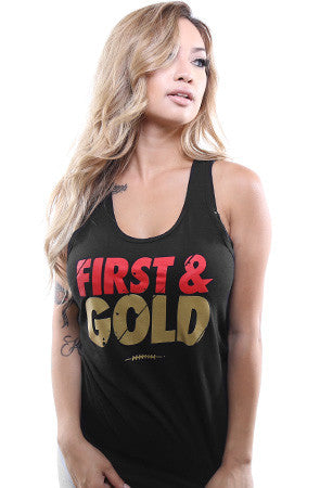 First and Gold (Women's Black Tank Top)