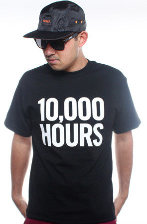 10,000 Hours (Men's Black Tee)