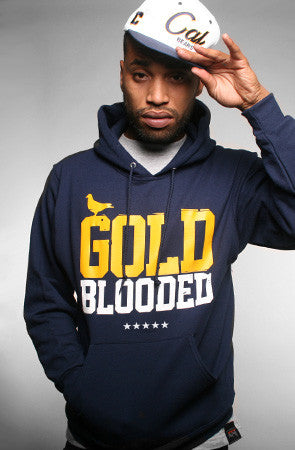 GOLD BLOODED Men's Navy/Gold Hoody