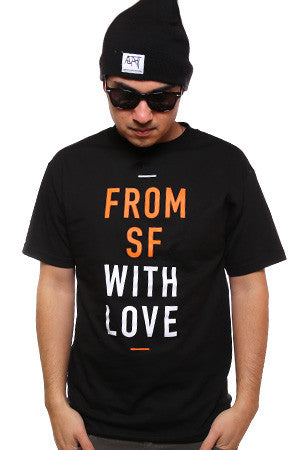 Fully Laced X Adapt :: From SF With Love (Men's Black/Orange Tee)