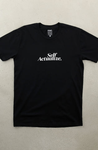 Self Actualize (Men's Black A1 Tee)