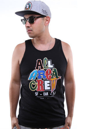 TRUE X Adapt :: All Area Crew (Men's Black Tank)