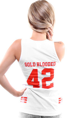 Gold Blooded Legends :: 42 (Women's White Tank Top)