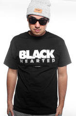 Black Hearted (Men's Black Tee)
