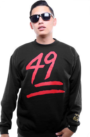 Booger X Adapt :: Keep It 49 (Men's Black Crewneck Sweatshirt)