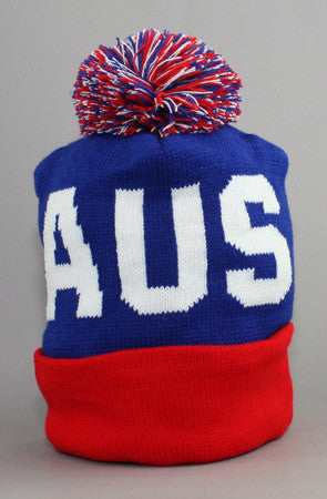 LAST CALL - Fully Laced X Adapt :: Australia (Blue/Red Beanie)