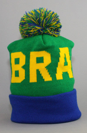 LAST CALL - Fully Laced X Adapt :: Brazil Beanie (Green/Blue)