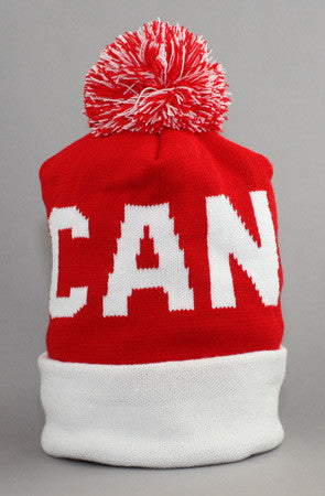 LAST CALL - Fully Laced X Adapt :: Canada (Red/White Beanie)