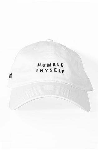 Humble Thyself (White Low Crown Cap)