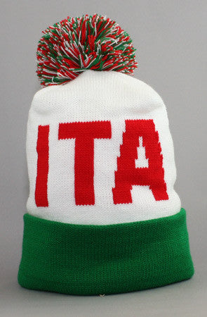 LAST CALL - Fully Laced X Adapt :: Italy (White/Green Beanie)