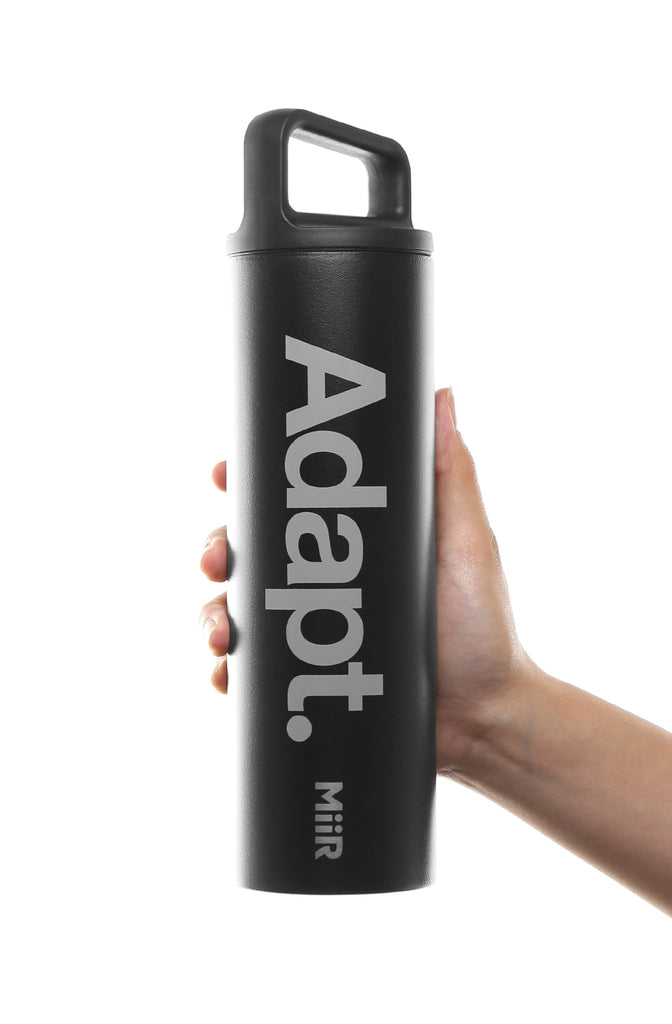 MiiR x Adapt :: Strata (Black 20 oz Wide-Mouth Bottle)