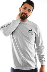 Move Mountains (Men's Heather Long Sleeve Tee)