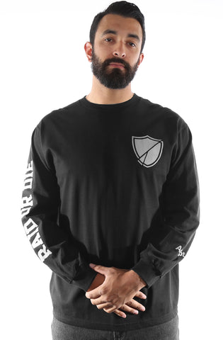 Raid Or Die SE (Men's Black Long Sleeve Tee)