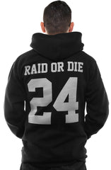 Raid or Die Outlaws :: 24 (Men's Black Hoody)