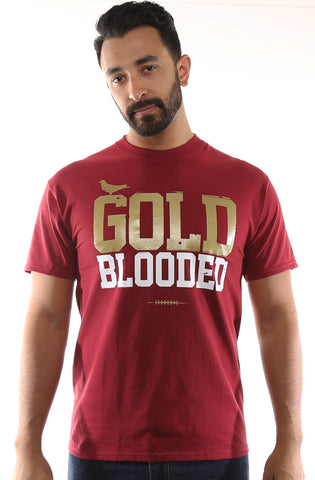 GOLD BLOODED Men's Cardinal/Gold Tee