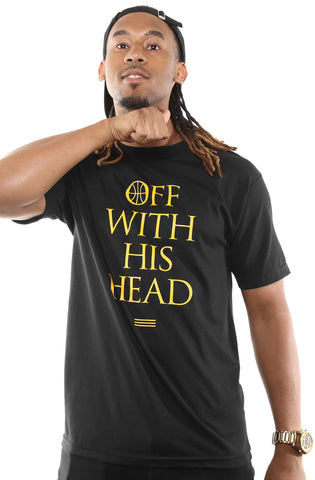 Off With His Head (Men's Black Tee)