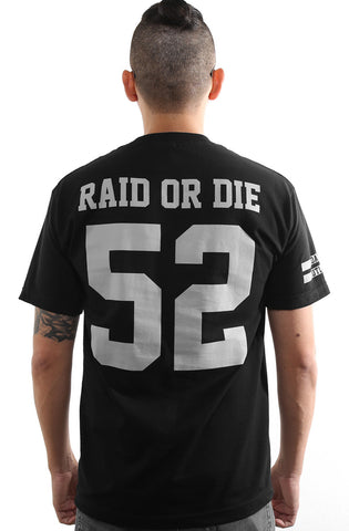 Raid or Die Outlaws :: 52 (Men's Black Tee)