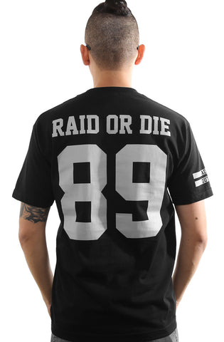 Raid or Die Outlaws :: 89 (Men's Black Tee)