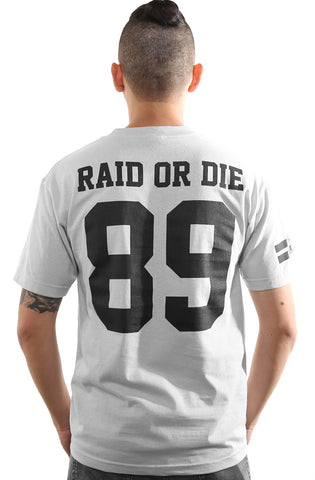 Raid or Die Outlaws :: 89 (Men's Silver Tee)