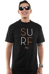 Surf (Men's Black Tee)