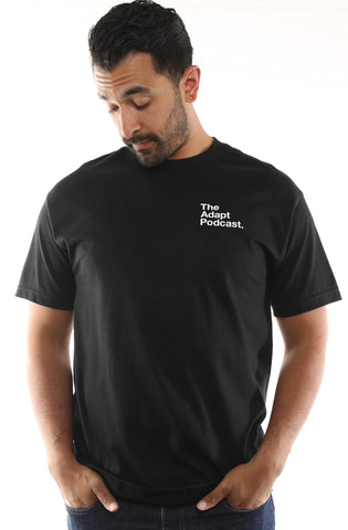 The Adapt Podcast Pocket (Men's Black Tee)
