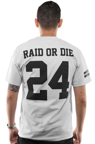 Raid or Die Outlaws :: 24 (Men's Silver Tee)
