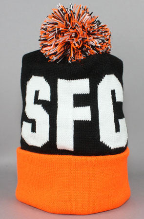 Fully Laced X Adapt :: SFC (Black/Orange Beanie)