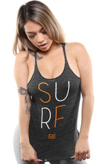 Surf (Women's Black Racerback Tank)