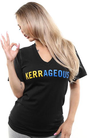 Kerrageous (Women's Black V-Neck)