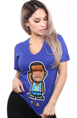Zeeb Labs x Adapt :: Wemoji 35 (Women's Royal V-Neck)