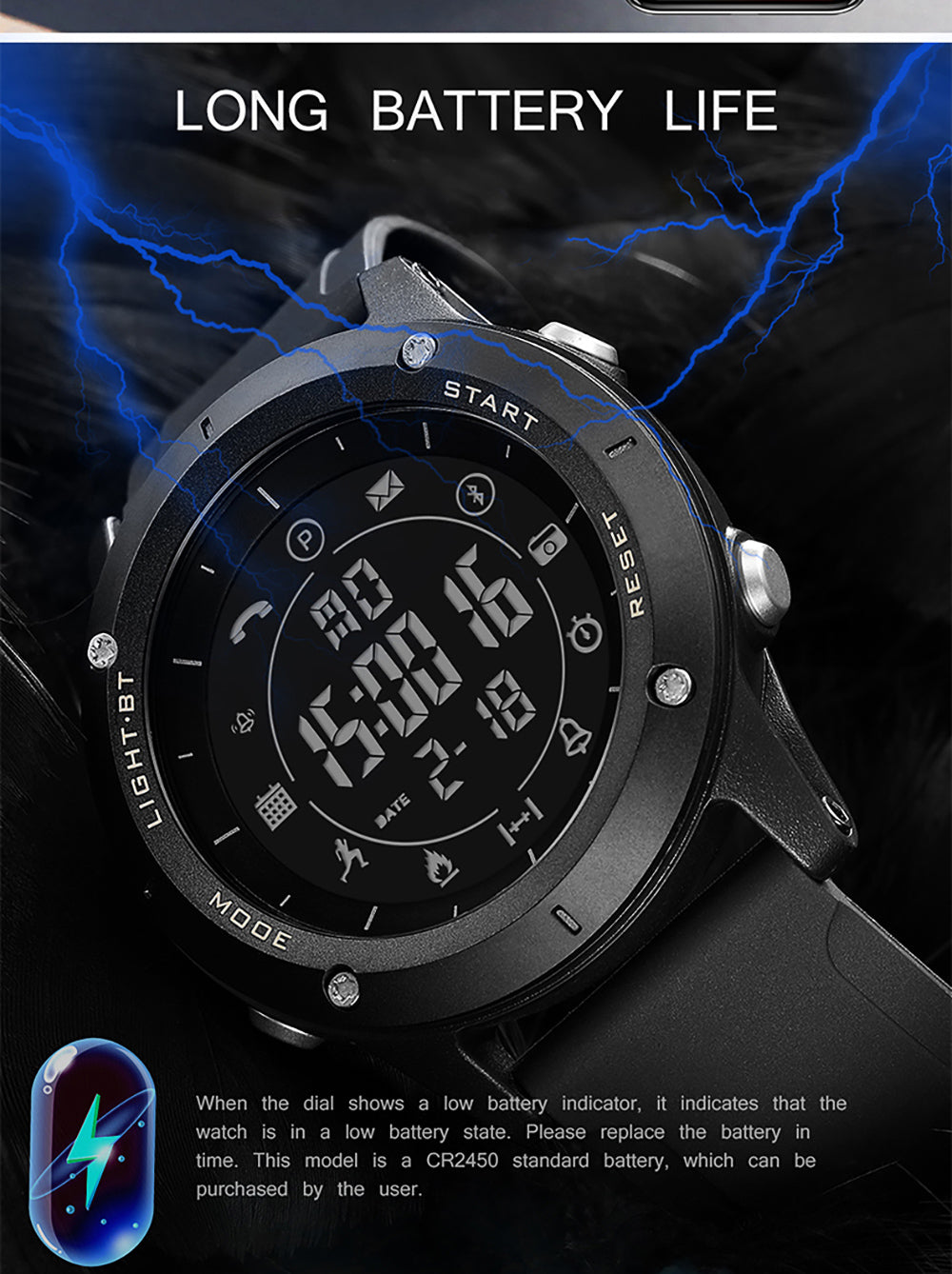 digital watch with bluetooth