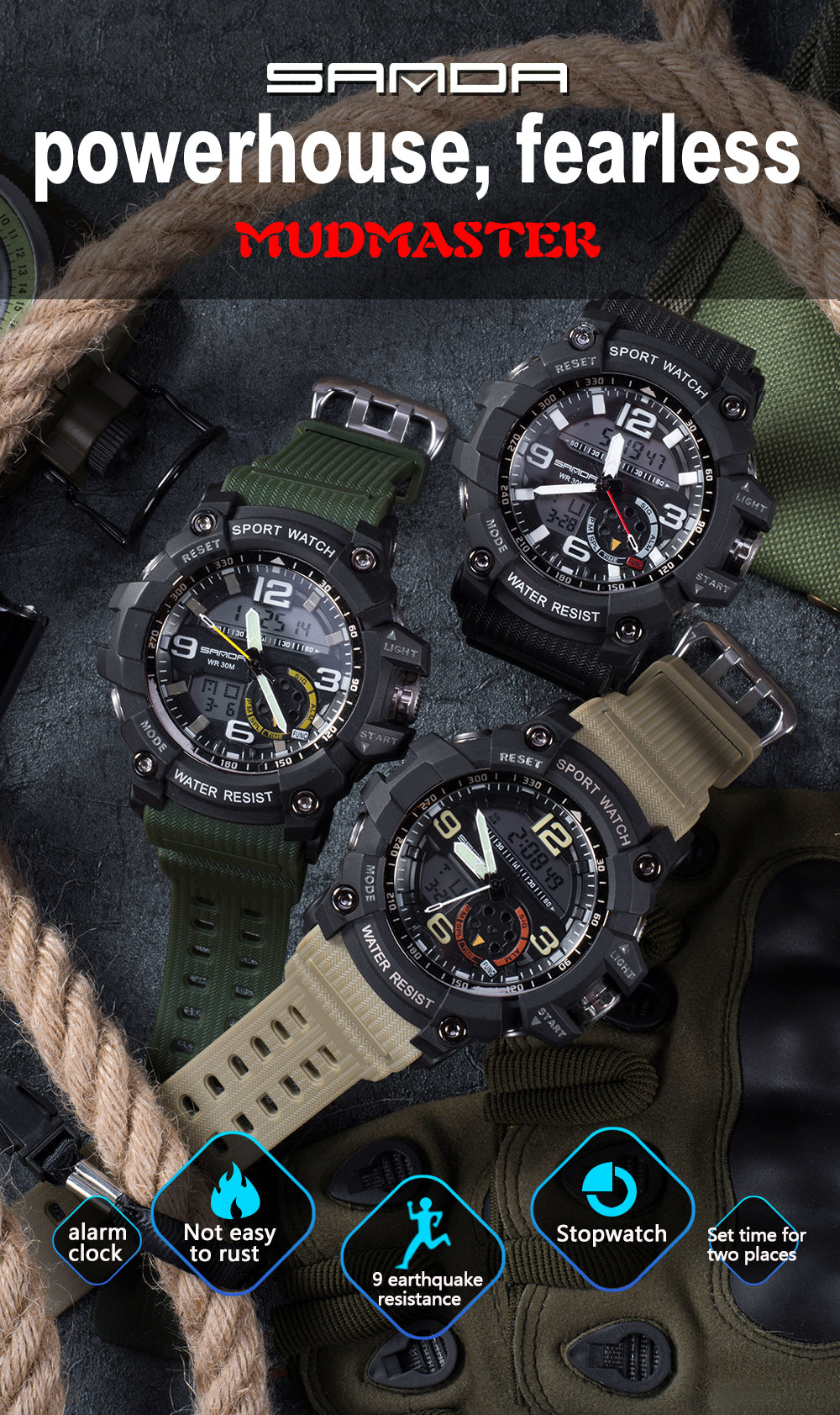 military digital watch