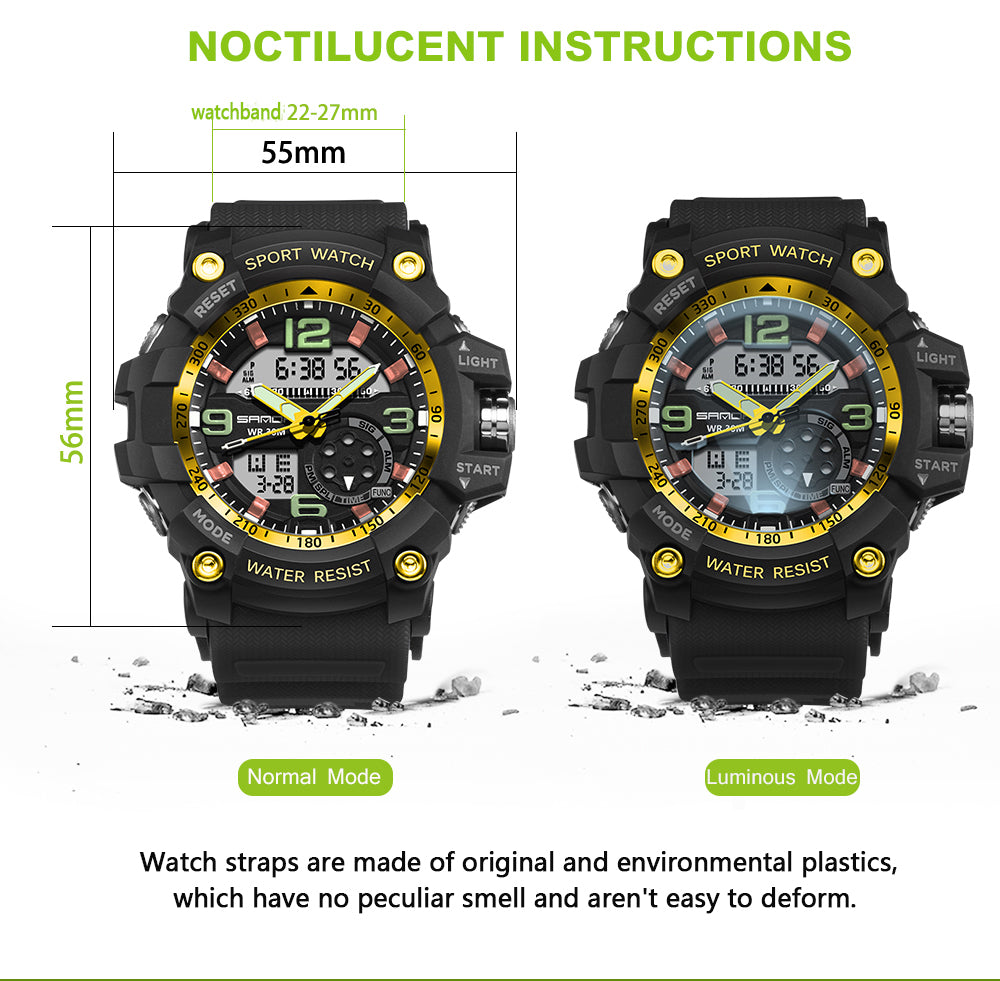military style digital watches
