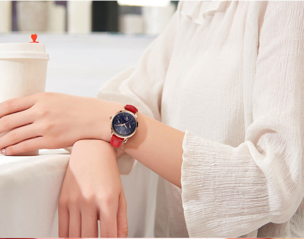 women's analog watch with day and date