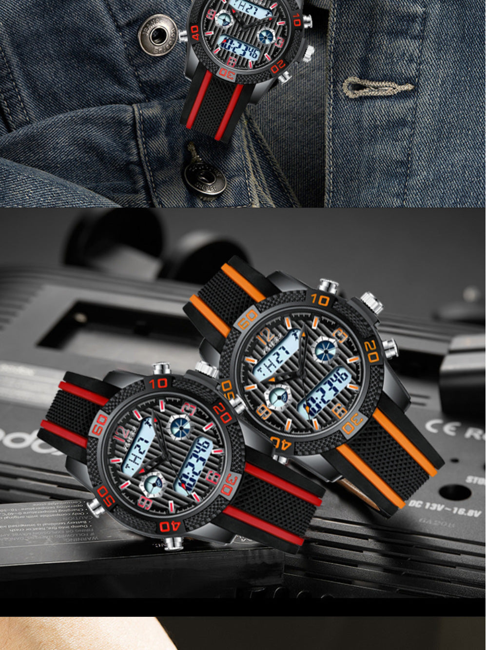 watch with digital and analog display