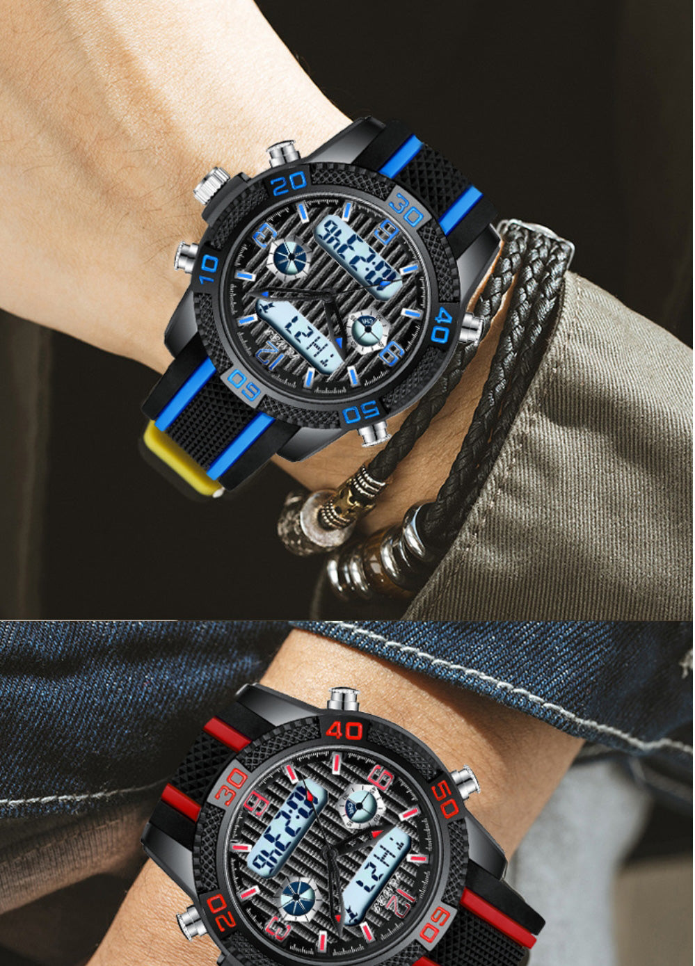 watches with both analog and digital display
