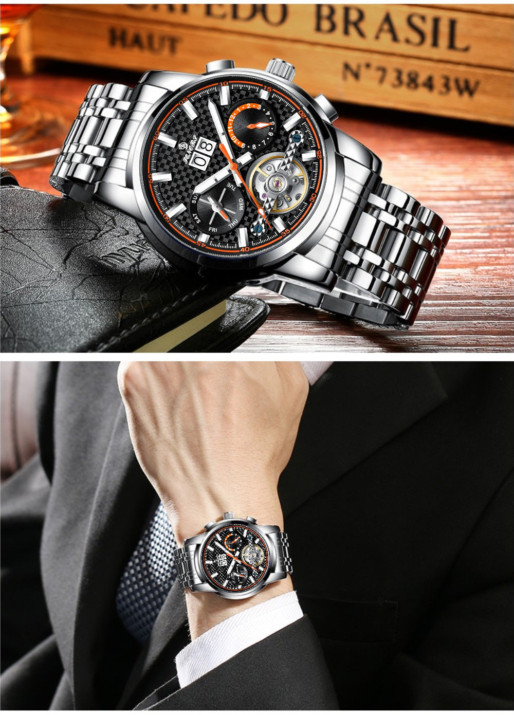 watch with day date and month