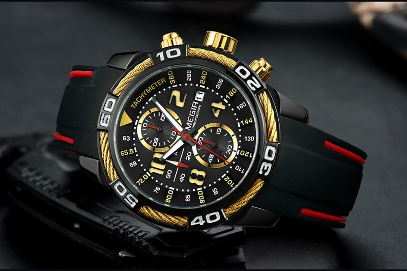 multifunction analog watch
